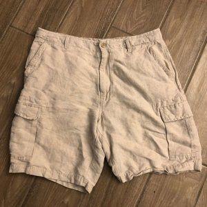 Tommy Bahama Relax Linen Cargo Shorts